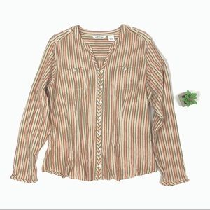 Orvis long sleeve striped top size L ☕️